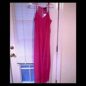 Forever21 maxi hot pink